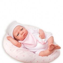 Μωρό Βινυλίου Elegance Edur με Μαξιλάρι ροζ 40cm-1500gr.