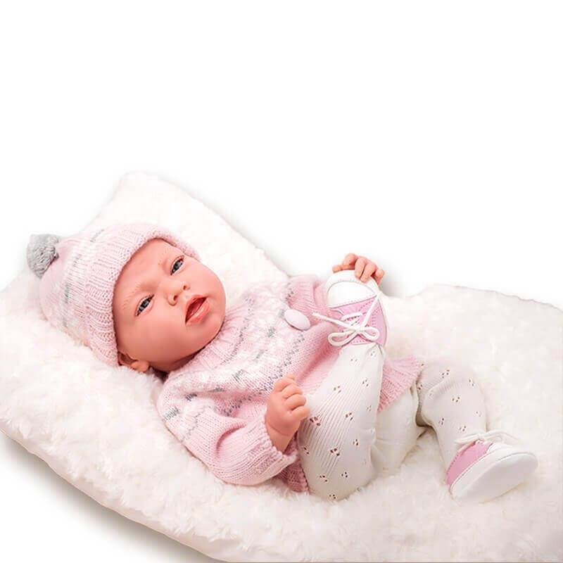 Μωρό Elegance Dafne με Μαξιλάρι ροζ 40cm-1500gr.