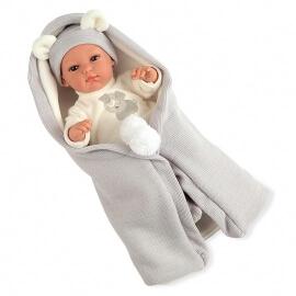 Μωρό Erea με Υπνόσακο Κουβερτάκι πιπίλα και ήχους γκρι 33cm