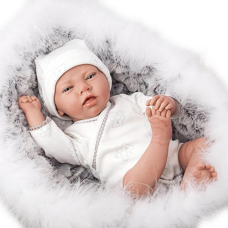 Μωρό Reborn 40εκ. με Πορτ Μπεμπέ και Ζωάκι Λούτρινο Munecas Arias Noel