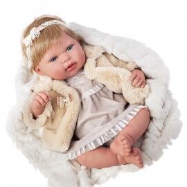 Μωρό Reborn 45εκ. με Κουβερτάκι και Ζωάκι Λούτρινο Munecas Arias Leire