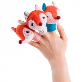 Γαντόκουκλα Αλίκη με 3 Αλεπουδάκια Δακτυλόκουκλες Lilliputiens