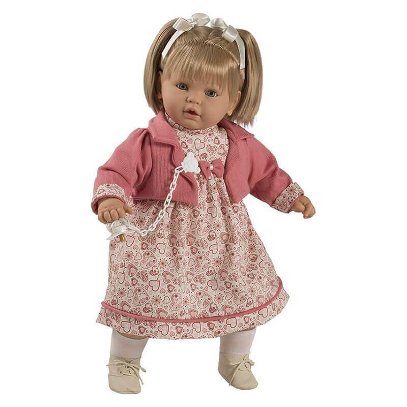 Κούκλα με Ήχους, Πιπίλα και Κλεισιμο Ματιών Baby Dulzon 62εκ. (8039)