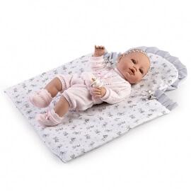 Μωρό με Παπλωματάκι Recien Nacidos Βινυλίου Ροζ 42εκ.