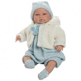 Μωρό Sara με Ήχους, Γαλάζιο Φορμάκι  50εκ.