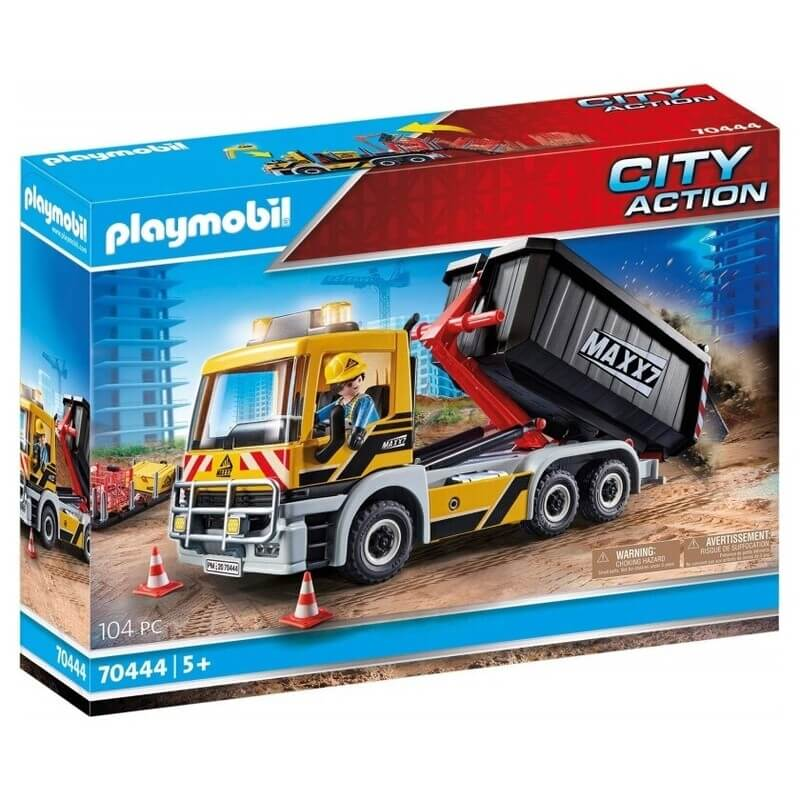 Playmobil City Action Φορτηγό Με Ανατρεπόμενη Καρότσα (70444)
