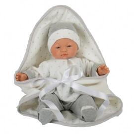 Μωρό Pablo που Κλαίει με Κουβέρτα Γκρι 40εκ. Tyber (40813)
