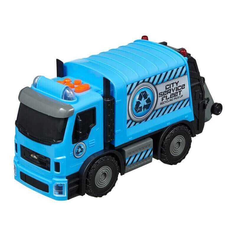 Απορριματοφόρο μπλε με κίνηση, ήχους και φώτα