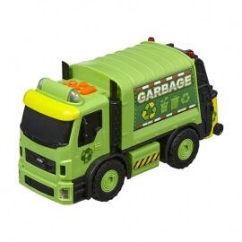 Απορριματοφόρο πράσινο με κίνηση, ήχους και φώτα
