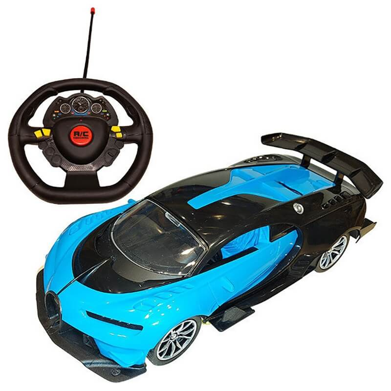 Σπορ Τηλεκατευθυνόμενο Αυτοκίνητο με Φορτιστή USB και Φώτα μπλε