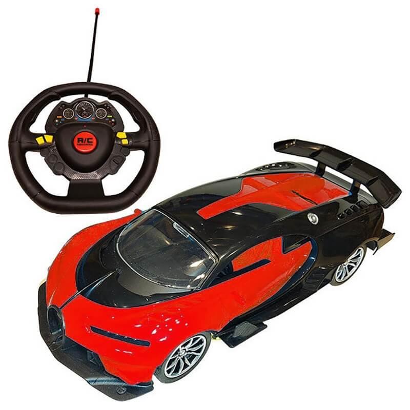 Σπορ Τηλεκατευθυνόμενο Αυτοκίνητο με Φορτιστή USB και Φώτα πορτοκαλί