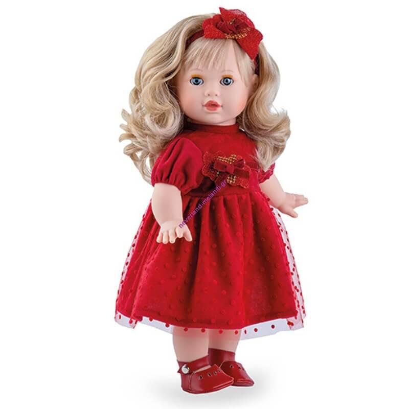 Κούκλα Tina Natale Κόκκινο Φόρεμα 42 εκ-Κλείσιμο Ματιών
