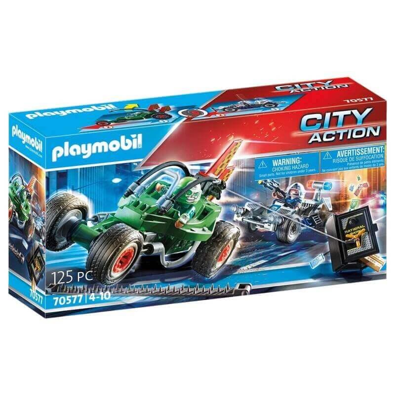 Playmobil Αστυνομία - Αστυνομική καταδίωξη Go-Kart (70577)