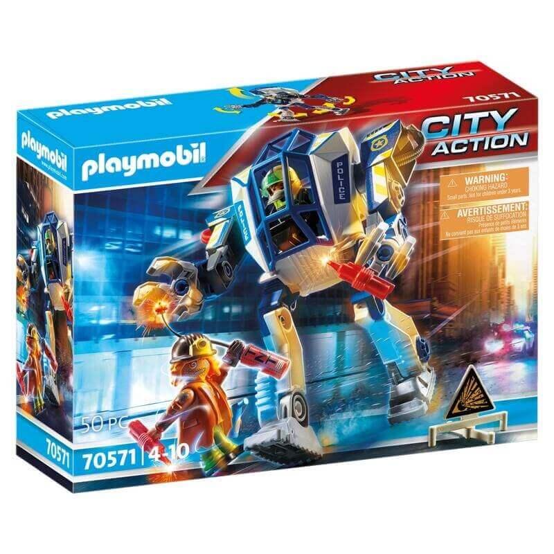Playmobil Αστυνομία - Αστυνομικό ρομπότ και ληστής (70571)