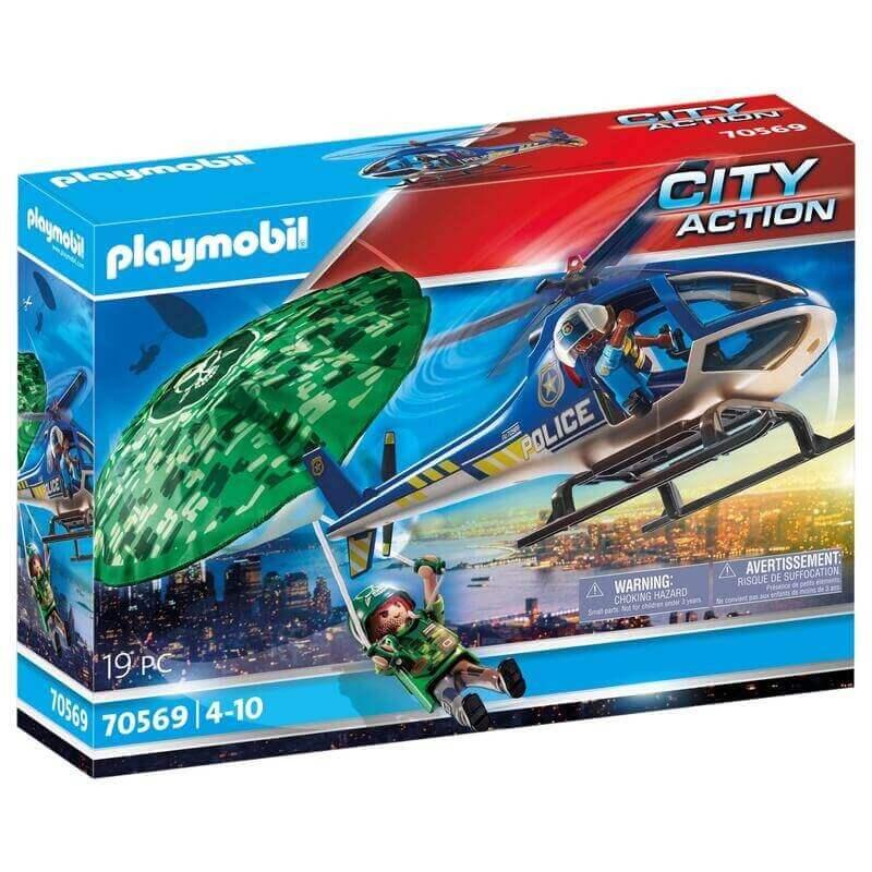 Playmobil Αστυνομία - Εναέρια αστυνομική καταδίωξη (70569)