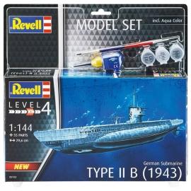 Πολεμικό Πλοίο Υποβρύχιο TYPE II B(1943) - Σετ Δώρου με Χρώματα και Κόλλα 55 κομ.