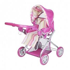 Καρότσι Κούκλας Kyra - Pink Stripes