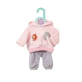 Σετ Φούτερ Παντελονάκι Baby Annabell για Κούκλα 34-38 cm ροζ-γκρι