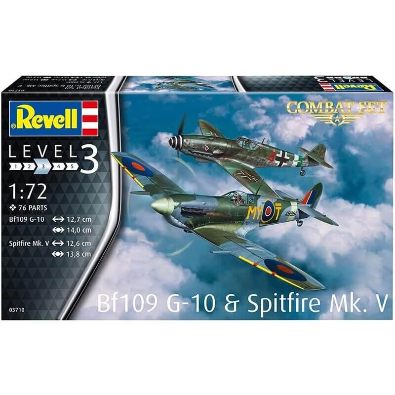 Σετ Πολεμικά Αεροπλάνα Spitfire Mk.V & Bf109G-10 1/72