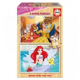 Παζλ Ξύλινο Educa - Princess 2x25 κομ.