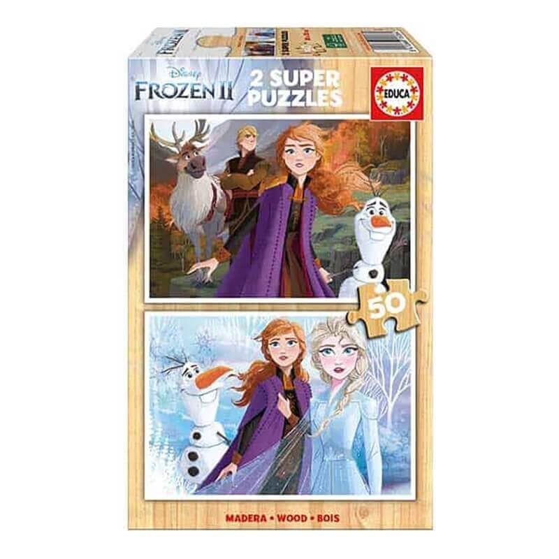 Παζλ Ξύλινο Educa - Frozen 2x50 κομ.