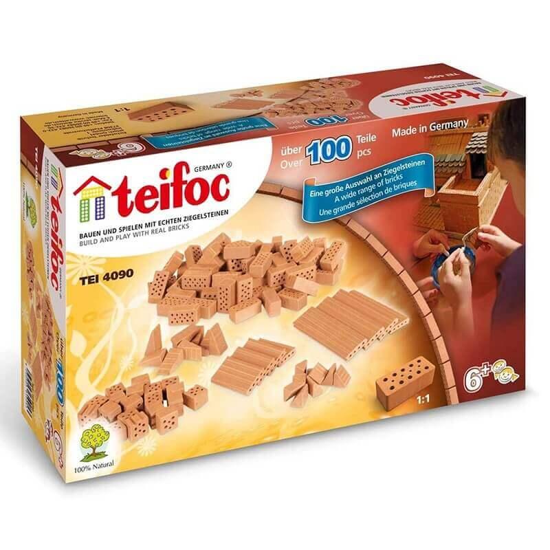 Teifoc - Κατασκευή Χτίζοντας με Πραγματικά Τουβλάκια Σετ Πρόσθετα Τουβλάκια