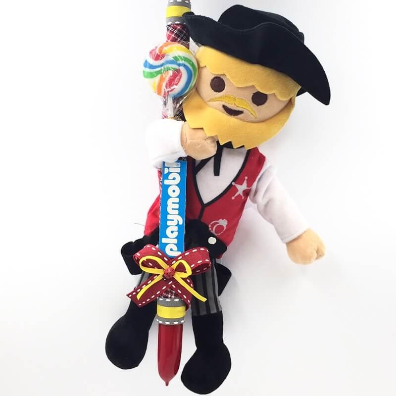 Χειροποίητη Πασχαλινή Λαμπάδα Playmobil Σερίφης 33εκ. (21.75)