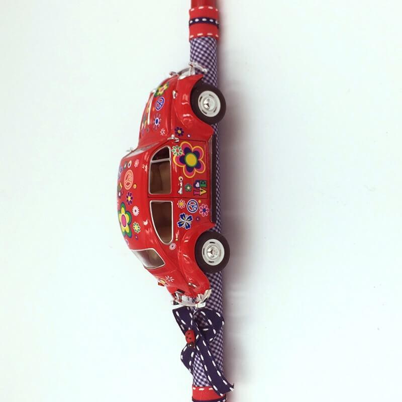 Χειροποίητη Πασχαλινή Λαμπάδα Volkswagen Σκαραβαίος 1/24 Κόκκινος (21.61)