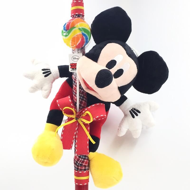 Χειροποίητη Πασχαλινή Λαμπάδα Μίκυ Μάους (Mickey Mouse) 24εκ. (21.48)