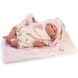 Συλλεκτικό Μωρο Νεογέννητο Reborn με Παπλωματάκι 45εκ.