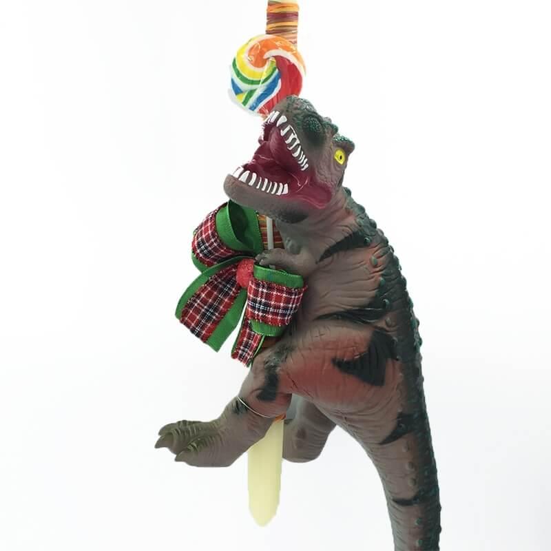 Χειροποίητη Πασχαλινή Λαμπάδα Δεινόσαυρος Rex 40 εκ με Ήχους (21.59)