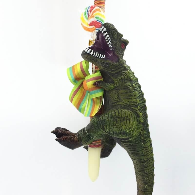 Χειροποίητη Πασχαλινή Λαμπάδα Δεινόσαυρος 40 εκ Rex με Ήχους (21.58)