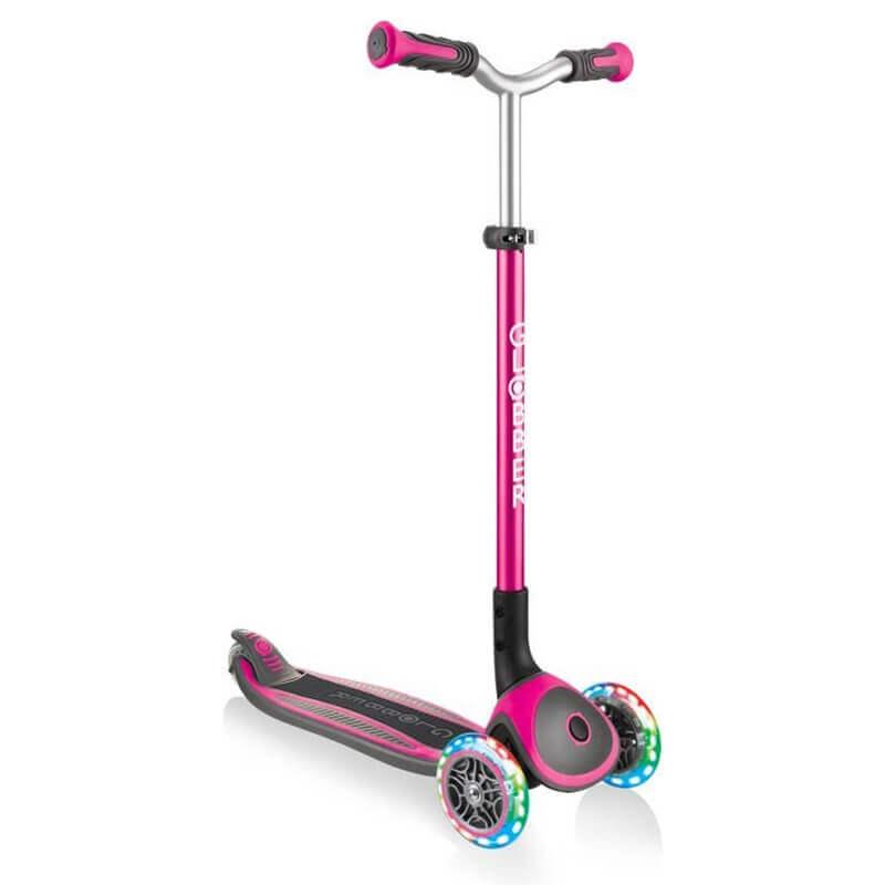 Πατίνι Globber Scooter Elite Αναδιπλούμενο Master Lights Pink