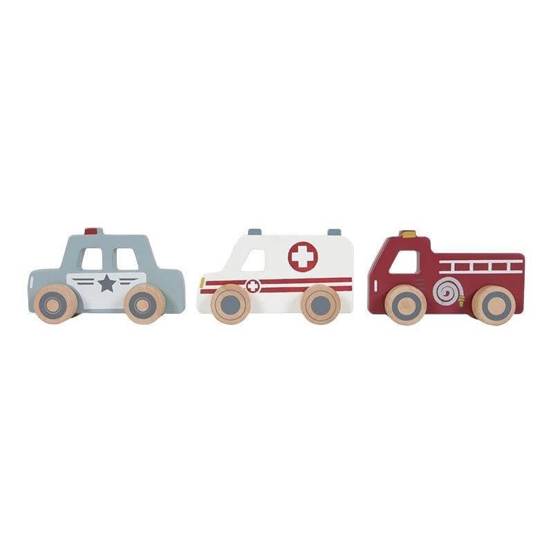 Σετ 3 Ξύλινα Οχήματα Little Dutch (4388)