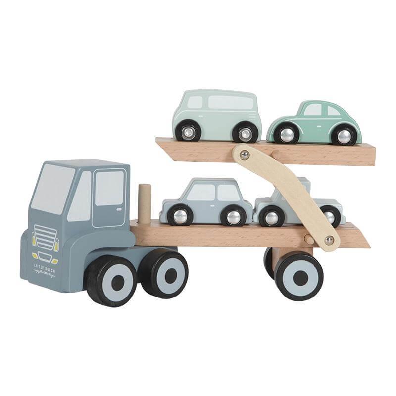 Ξύλινο Φορτηγό με Αυτοκινητάκια Little Dutch (4453)