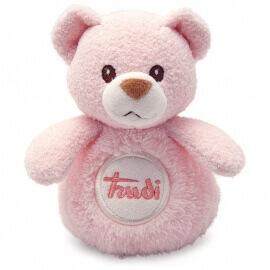 Αρκουδάκι Κουδουνίστρα Ροζ 12εκ. Trudi