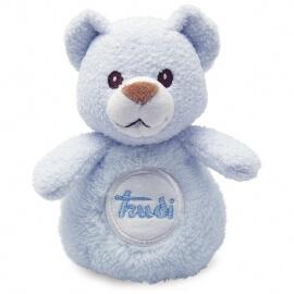 Αρκουδάκι Κουδουνίστρα Γαλάζιο 12εκ. Trudi