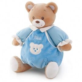 Αρκουδάκι Λούτρινο Μπεμπέ Γαλάζιο 20εκ. με Κουτί Δώρου Trudi