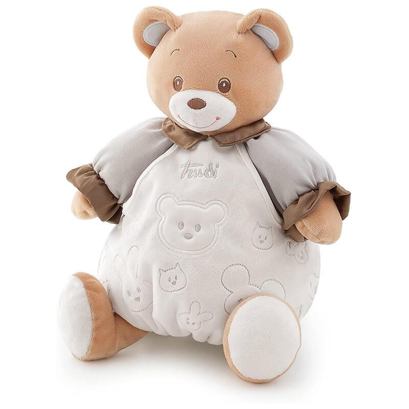 Αρκουδάκι Λούτρινο Μπεμπέ Μπεζ 20εκ. με Κουτί Δώρου Trudi