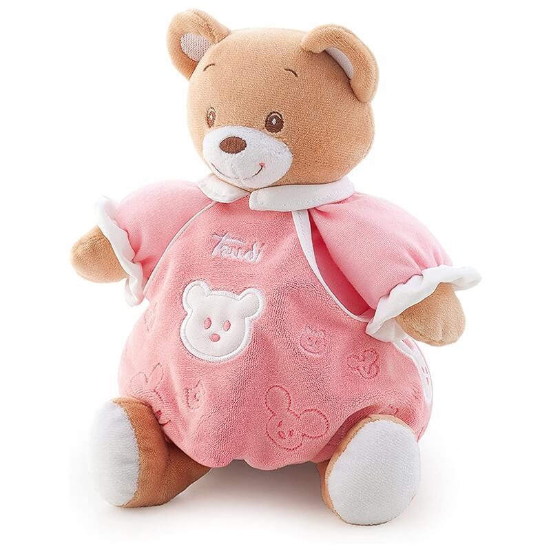 Αρκουδάκι Λούτρινο Μπεμπέ Ροζ 20εκ. με Κουτί Δώρου Trudi
