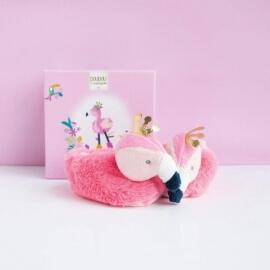 Παπουτσάκια Μπεμπέ Φλαμίνγκο Ροζ (0-6 μηνών) σε Κουτί Δώρου