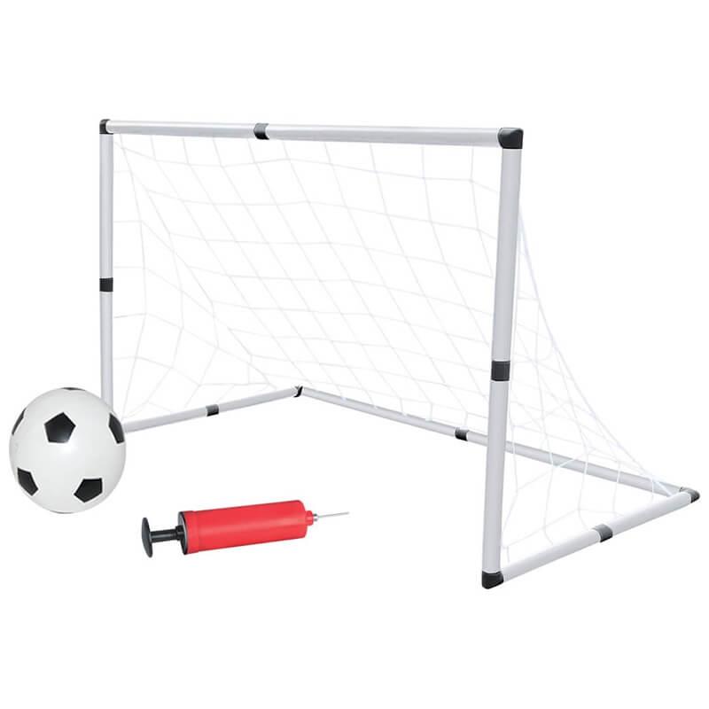 Σετ Τέρματα Ποδοσφαίρου με Μπάλα και Τρόμπα