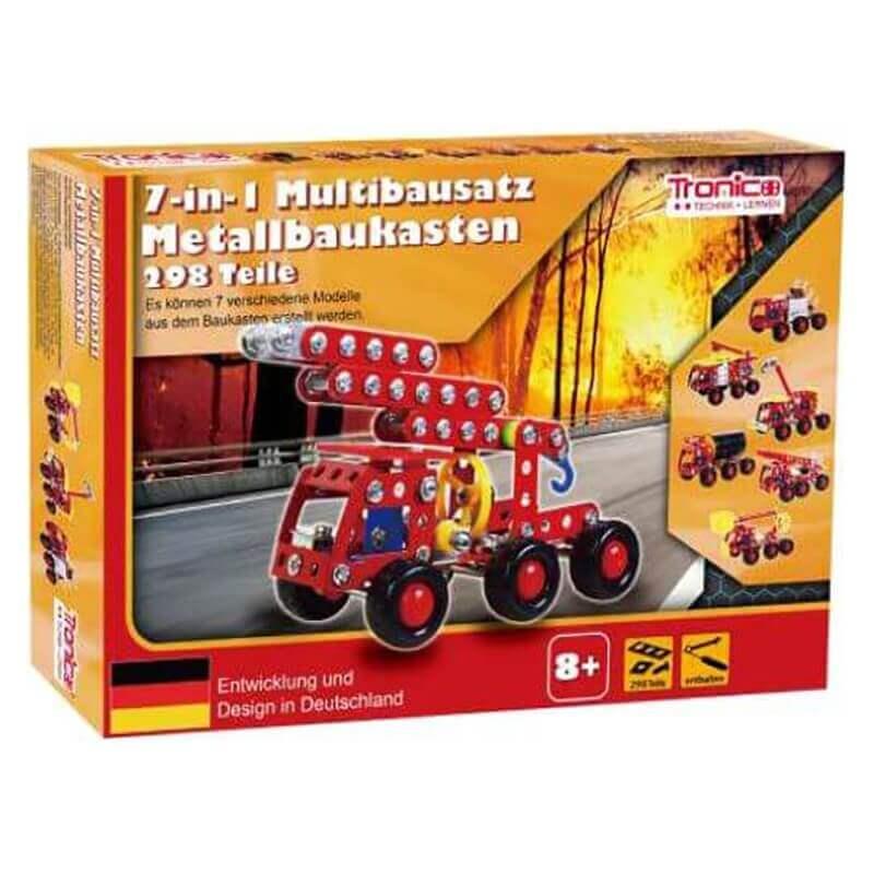 Tronico Μεταλλική Κατασκευή Πυροσβεστική με Ήχους & Φώτα 7σε1 (289 κομ.)
