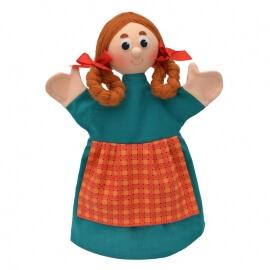 Κούκλα Κουκλοθεάτρου - Κοριτσάκι Γκρέτα με Κοτσιδάκια