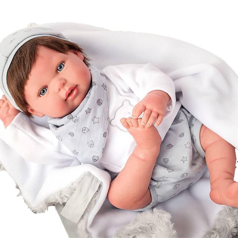Μωρό Reborn Alejandro 45εκ. με Μαλλιά και Κουβερτάκι Munecas Arias (98040)