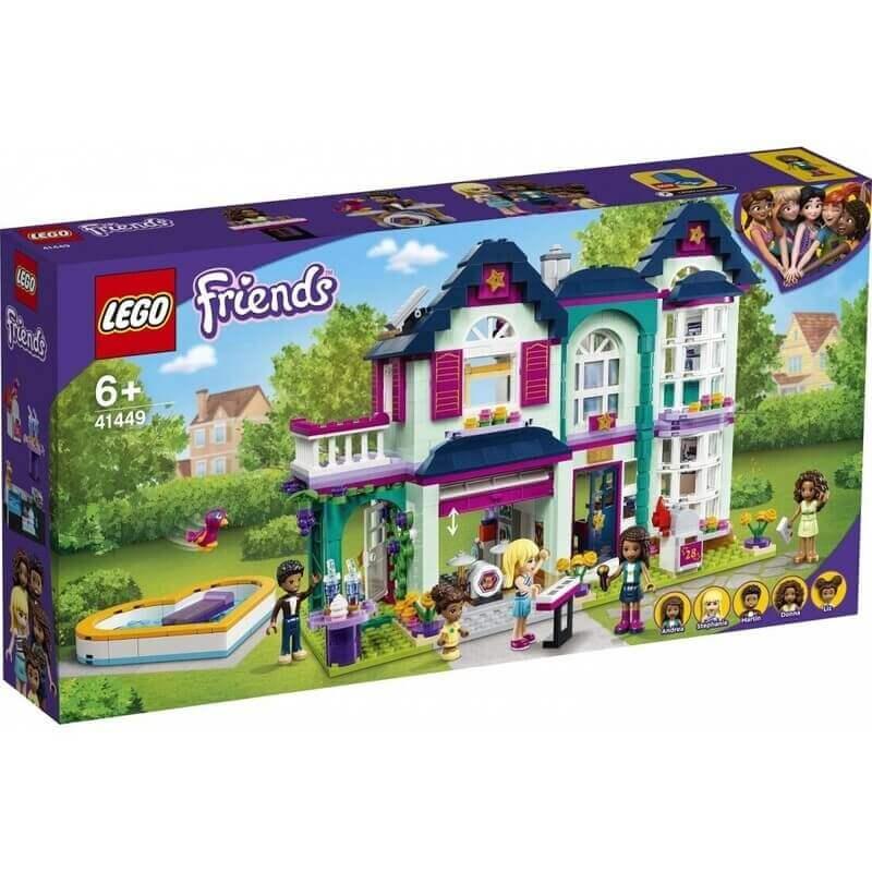 Lego Friends - Το Οικογενειακό Σπίτι της Άντρεα (41449)