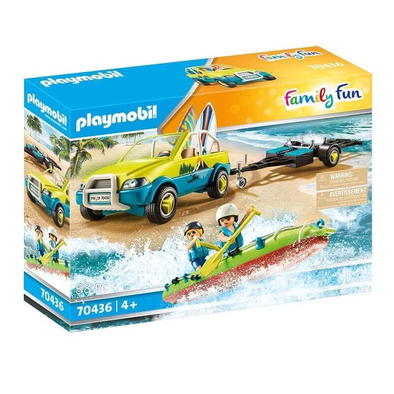 Playmobil Family Fun - Αυτοκίνητο με ανοιχτή Οροφή και Κανό (70436)