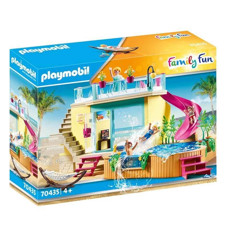 Playmobil Family Fun - Μπάνγκαλοου με Πισίνα (70435)
