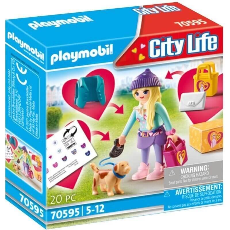 Playmobil City Life - Fashion Girl με Σκυλάκι (70595)