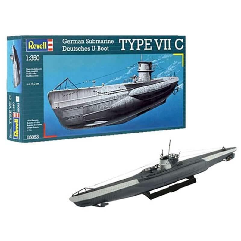 Πολεμικό Υποβρύχιο Type VII C 1/350 - Revell 05093